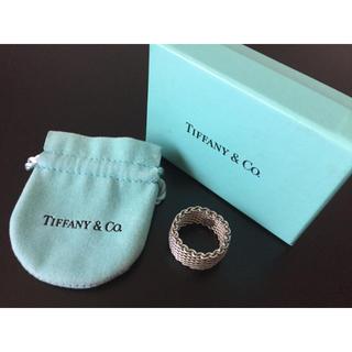 ティファニー(Tiffany & Co.)の正規店購入 Tiffany メッシュリング(リング(指輪))
