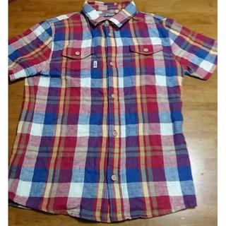 バズスパンキー(BUZZ SPUNKY)のBUZZ SPUNKY 半袖チェックシャツ L(シャツ)