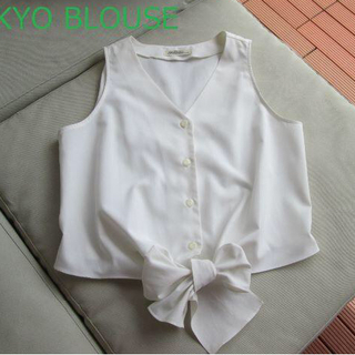 イワタヤ(岩田屋)の東京ブラウス 裾リボンシャツ(シャツ/ブラウス(半袖/袖なし))