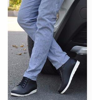 25cm★スニーカーみたいなレインシューズ 防水 黒(長靴/レインシューズ)
