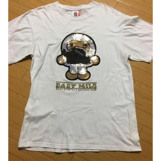 アベイシングエイプ(A BATHING APE)のA BATHING APE ベビーマイロ スパンコール ベイプスタ Tシャツ(Tシャツ/カットソー(半袖/袖なし))