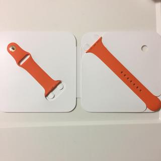 アップルウォッチ(Apple Watch)のApple Watch Hermes オレンジ スポーツバンド 42mm用(ラバーベルト)