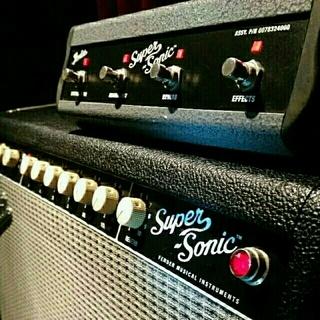 フェンダー(Fender)の【美品】Fender Super Sonic 22 Combo -Black-(ギターアンプ)