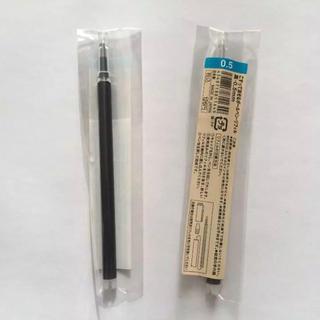MUJI (無印良品) - *リフィル2本《こすって消せるボールペン 0.5㍉(黒)