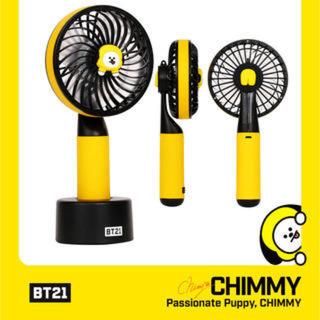 ボウダンショウネンダン(防弾少年団(BTS))の【bt21 公式】 CHIMMY 扇風機 ハンディファン BTS 韓国(アイドルグッズ)