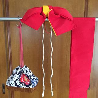ゆかた結び帯とかご(浴衣帯)