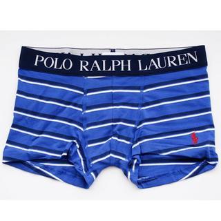 ポロラルフローレン(POLO RALPH LAUREN)のポロ ラルフ メンズ ローライズ ボクサ パンツ メンズ M ブルー ボーダー(ボクサーパンツ)