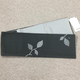 《新品》半幅帯♡正絹♡ダークグレー(帯)