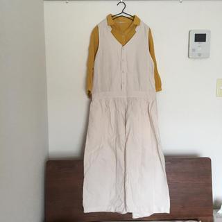 サマンサモスモス(SM2)のSM2 綿麻サロペット&五分袖シャツ(サロペット/オーバーオール)