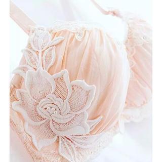 【B〜F】薔薇レースの可愛いブラショーツセット♡新品未使用タグ付き♡(ブラ&ショーツセット)