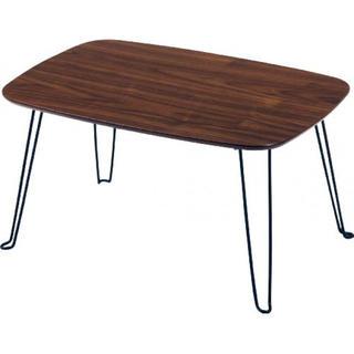 不二貿易 ローテーブル 折りたたみテーブル ダークブラウン