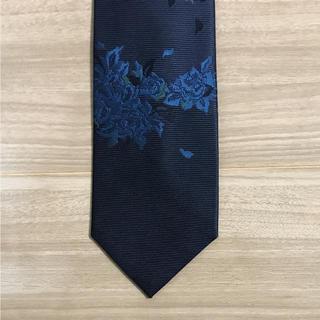 kyoto 刺繍 ネクタイ  ネイビー 新品未使用(ネクタイ)