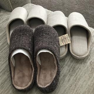 MUJI (無印良品) - 新品・無印良品・生成スリッパ(室内履き) Lサイズ・25〜26.5センチ・