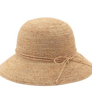 ムジルシリョウヒン(MUJI (無印良品))の新品  無印良品 サイズ調節できるラフィアたためるキャペリン(麦わら帽子/ストローハット)