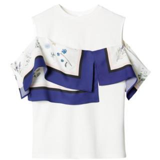 ルシェルブルー(LE CIEL BLEU)のLE CIEL BLEU パネルスカーフトップス(カットソー(半袖/袖なし))
