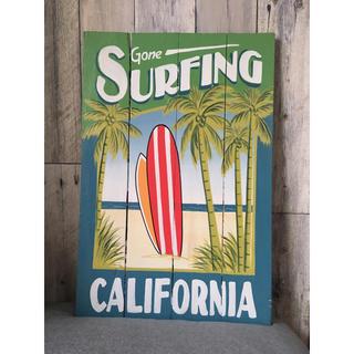 ロンハーマン(Ron Herman)のGone surfing カフェ看板 カフェインテリア ウェルカムボード(ウェルカムボード)