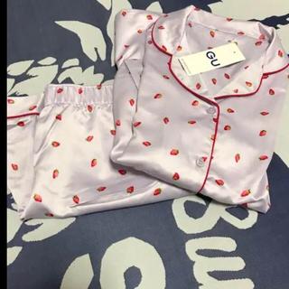 ジーユー(GU)の完売‼️GU✩完売 イチゴ柄パジャマ半袖🍓(パジャマ)