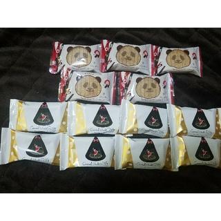パンダのシュガーバターサンド&キャラメルショコラパフリィ計13個(菓子/デザート)