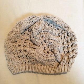 アングリッド(Ungrid)のケーブル編みニットベレー(ハンチング/ベレー帽)