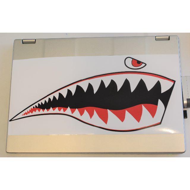 【新品】サメ アートステッカー シール デカール  防水 高品質 2枚 自動車/バイクのバイク(ステッカー)の商品写真
