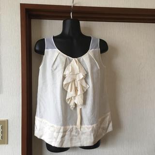 アトウ(ato)のアトウato シルク混 ノースリーブ サイズ36(Tシャツ/カットソー(半袖/袖なし))