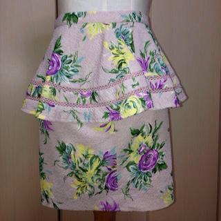 リリーブラウン(Lily Brown)のリリーブラウン☆ペプラムスカート(ミニスカート)
