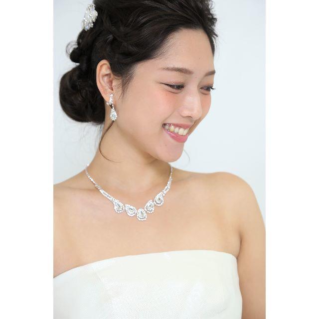 【新品】プチプラ♡ネックレス&ピアスセット キラキラビジュー♡ レディースのアクセサリー(ネックレス)の商品写真