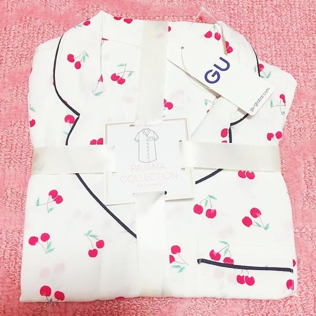 GU(ジーユー)の最後の1枚😰GU✩完売  さくらんぼ(チェリー)パジャマL レディースのルームウェア/パジャマ(パジャマ)の商品写真