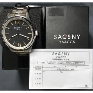 サクスニーイザック(SACSNY Y'SACCS)の未使用 サクスニーイザック SYA-15091 BK 腕時計 メンズ 送料無料(腕時計(アナログ))