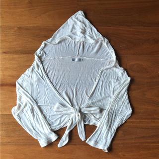 キュートゥーピー(QTOP)の【七分袖】フード付きカーディガン(カーディガン)