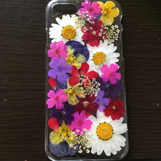 iPhone - スマホケース 押し花 ハンドメイド