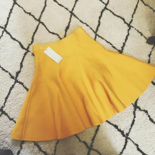 ルシェルブルー(LE CIEL BLEU)のルシェルブルー  イエロー スカート(ひざ丈スカート)