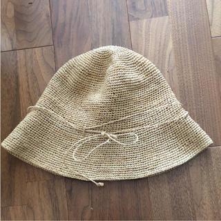 ムジルシリョウヒン(MUJI (無印良品))の無印 ラフィア 帽子(麦わら帽子/ストローハット)
