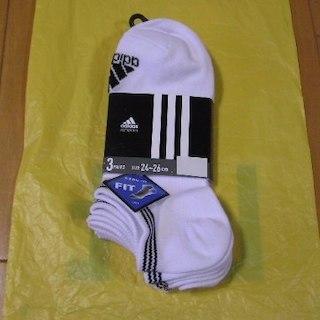 アディダス(adidas)のアディダス adidas ショート・アンクルソックス 3足組 3色 24~26㎝(その他)
