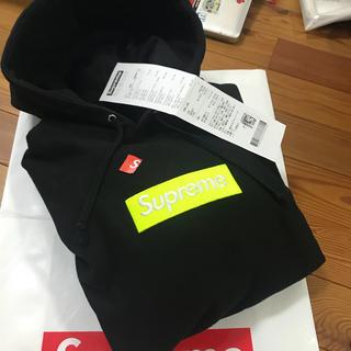 シュプリーム(Supreme)のsupreme 17aw ボックスロゴパーカー 確実正規品box logo 箱パ(パーカー)