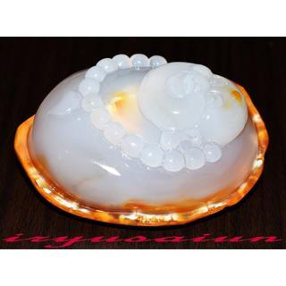 【瑪瑙(メノウ)】 天然石 高級手彫り布袋様根付 開運風水新品一点ものFT028(彫刻/オブジェ)