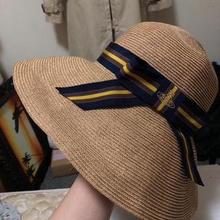 ヴィヴィアンウエストウッド(Vivienne Westwood)のVivienne Westwood ペーパーハット 麦わら帽子(麦わら帽子/ストローハット)