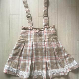 リズリサ(LIZ LISA)の【LIZ LISA】タータンチェックジャンパースカート(ミニスカート)