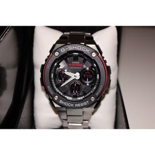 カシオ(CASIO)の美品G-SHOCK Casioソーラー電波 腕時計 GST-W100D(金属ベルト)
