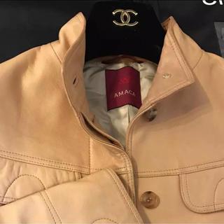 アマカ(AMACA)のAMACA 高級羊革ジャケット キャラメル色 38サイズ 訳あり(その他)