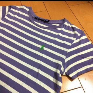 ポロラルフローレン(POLO RALPH LAUREN)のラルフローレンパープルボーダーコットンT(Tシャツ/カットソー(半袖/袖なし))