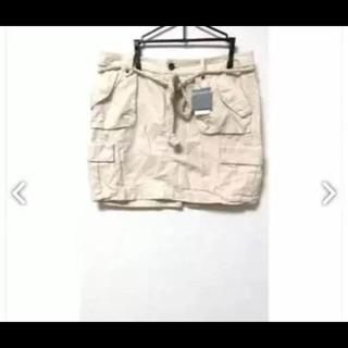 リネン カーゴスカート 定価1万二千円 ロープベルト付き