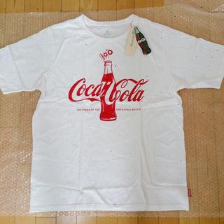 LL/未使用!コカコーラコラボプリントTシャツ(その他)