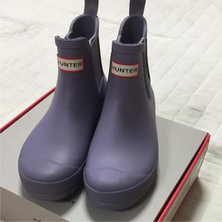 ハンター(HUNTER)のHUNTER  パープル レインシューズ  US7(レインブーツ/長靴)