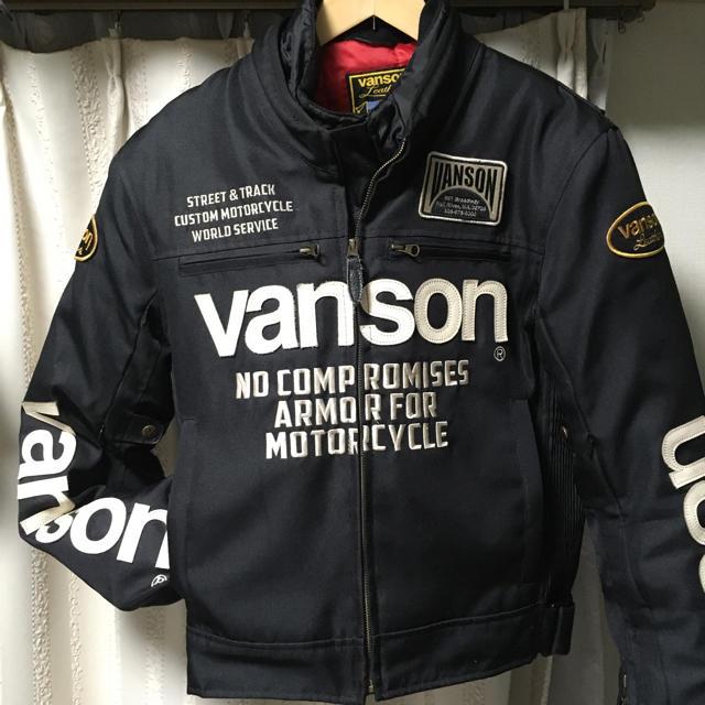 VANSON(バンソン)のVANSON バンソン ナイロンジャケット ブラック 黒 ハーレーダビッドソン メンズのジャケット/アウター(ライダースジャケット)の商品写真