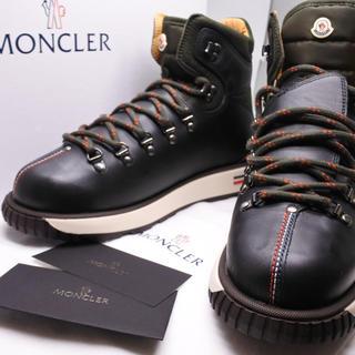 モンクレール(MONCLER)のモンクレール ブーツ カーキ トリコロール 未使用 レザー メンズ 42 正規(ブーツ)