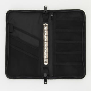 ムジルシリョウヒン(MUJI (無印良品))の無印 パスポートケース 家計簿 ブラック 黒 リフィールなし(ポーチ)
