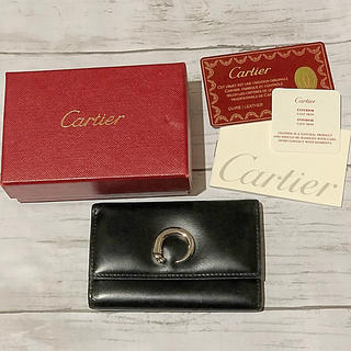 5dfc943e591c カルティエ(Cartier)のカルティエ キーケース 6連 黒 (キーケース)