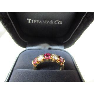 ティファニー(Tiffany & Co.)のティファニー ハーフエタニティ ダイヤ×ルビー リング(リング(指輪))