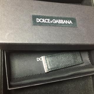 ドルチェアンドガッバーナ(DOLCE&GABBANA)の美品 ドルガバ マネークリップ レザー 黒 マグネット式(マネークリップ)